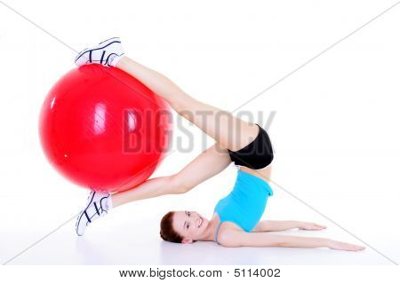 Woman And Fittball