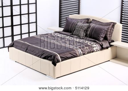 Modern Bed In A Bedroom