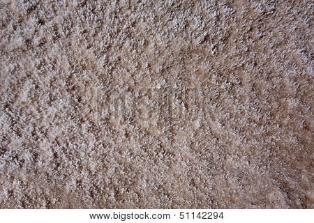 Badwater Basin Death Valley salt textures macro in California National Park