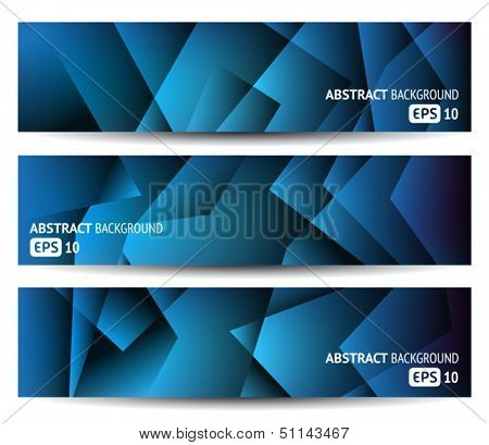 Three abstract banners - website headers