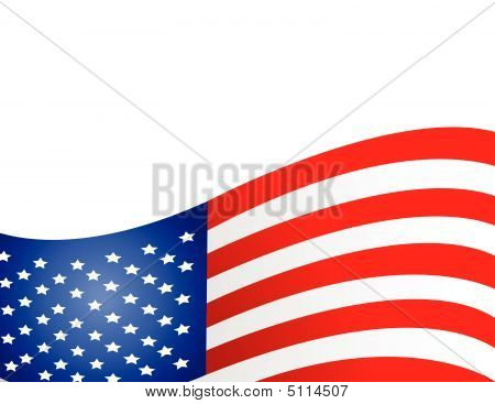 Bandera de Estados Unidos en estilo Vector Illustration