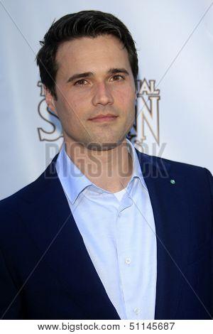 LOS ANGELES - JUN 26:  Brett Dalton arrives at the 39th Annual Saturn Awards at the Castaways on June 26, 2013 in Burbank, CA