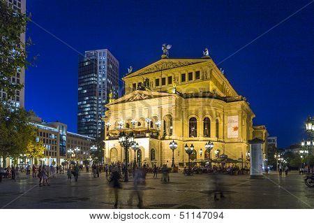 Frankfurt Alte Oper By Night