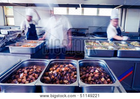 kitchen of a chinese restaurant