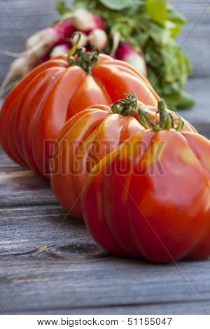 Three Beefsteak Tomatoes