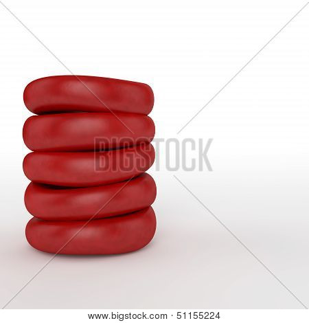 Red Blood Cells Pile