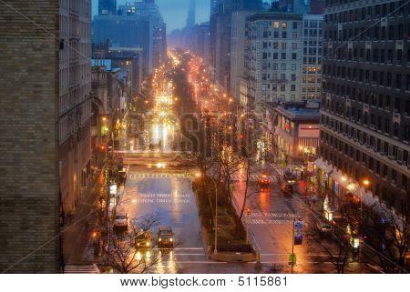 Rainy Night On Broadway