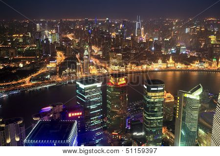Shanghai Panoramic At Night