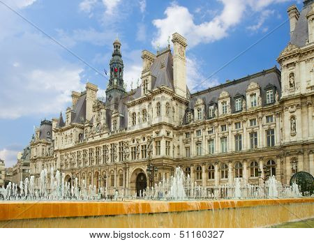 city hall of Paris, France