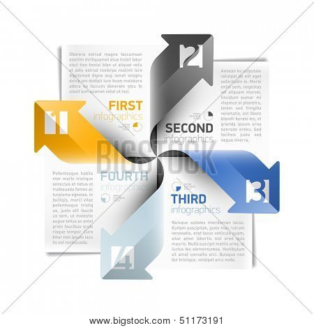 Arrows infographics design template. Vector.