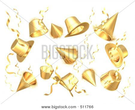 Gilded Party Hats