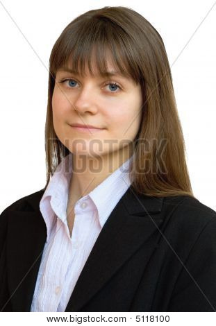 Portrait Of The Beautiful Business Girl