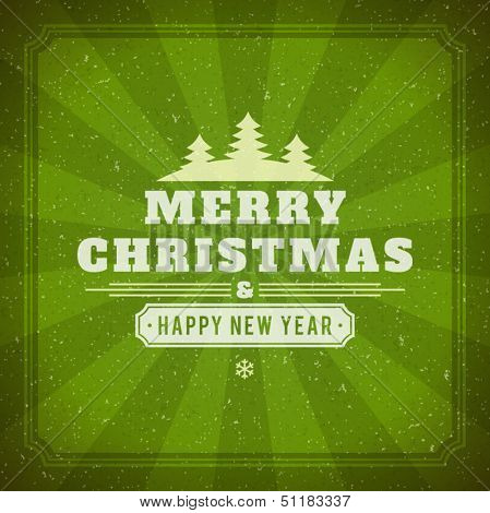 Christmas background vector image. Christmas card or invitation.