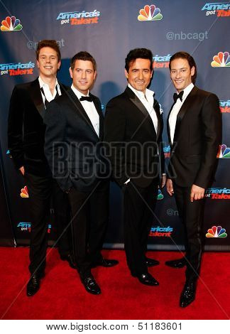 NEW YORK-SEP 18:  Classical crossover group Il Divo at the post-show red carpet of