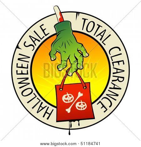 Halloween sale symbol.