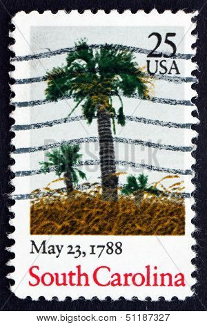 Postage Stamp Usa 1988 South Carolina, Ratification Of The Constitution