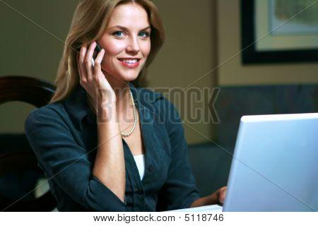 Customer Service Representative At Work