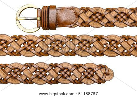 Brown Women Belt Isolated On White