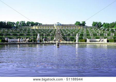Potsdam Germany May 19: Sanssouci Palace In Potsdam