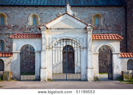 Gate Of The Collegiate Church In Tum