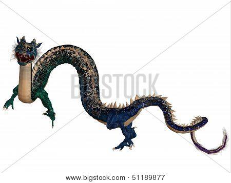 Blue Ornamental Dragon
