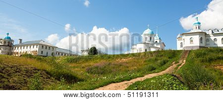 Panorama of Intercession monastery of Tervenichi, Russia (nunnery, orthodox)