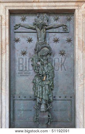 Jubilee Door at famous Basilica of Saint John Lateran in Rome, Italy