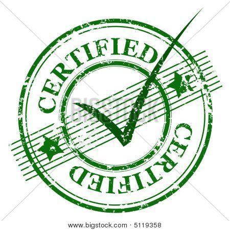 Stempel zertifiziert