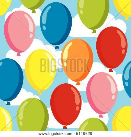 Balloon Seamless Pattern