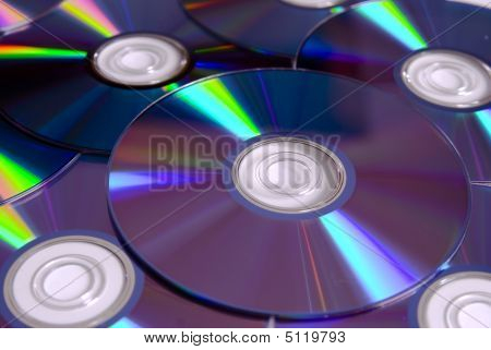 A Stack Of Cd / Dvd Discs
