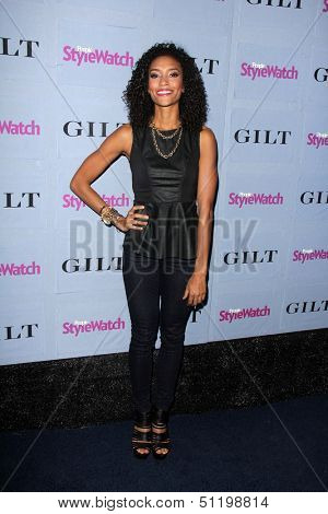 LOS ANGELES - SEP 19:  Annie Ilonzeh at the People Stylewatch Hollywood Denim Partyy at Palihouse on September 19, 2013 in West Hollywood, CA