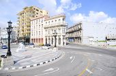 picture of malecon  - El Paseo del Prado a famous street in Havana near View of the Malecon road - JPG