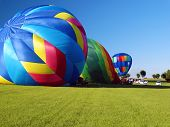 Inflating Hot Air Balloons