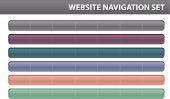 Website Navigation Set - Vector