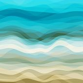 stock photo of curves  - Abstract Design Creativity Background of Blue and Beige Waves - JPG