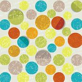 Retro Circle Pattern Background