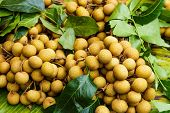 Longan in fruit market