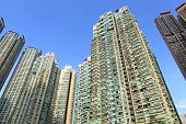 picture of overpopulation  - Hong Kong residential buildings - JPG