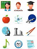 stock photo of people icon  - Vector illustration Set of education icons  - JPG