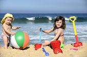 stock photo of girl toy  - Summer vacation - JPG