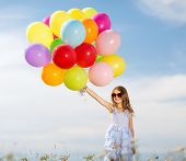 stock photo of  preteen girls  - summer holidays - JPG