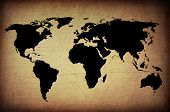 picture of continents  - world map vintage artwork  - JPG