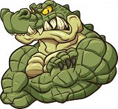 picture of alligator  - Strong angry alligator mascot - JPG
