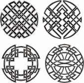 image of symmetrical  - Symmetrical round knot patterns - JPG