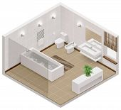 picture of isometric  - Vector isometric bathroom icon - JPG