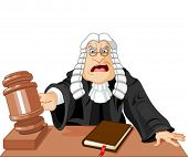 picture of law order  - Angry judge with gavel makes verdict for law - JPG