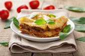 picture of lasagna  - lasagna bolognese  - JPG