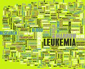 stock photo of leukemia  - Leukemia Cancer Concept as a Medical Abstract - JPG