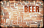 stock photo of drawing beer  - Beer Concept Menu for Ordering and Drink Types - JPG