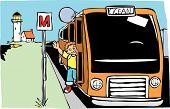 Постер, плакат: Автобус в океан